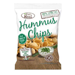Eat Real Hummus Chips - Sour Cream and Chive (12 x 45g)