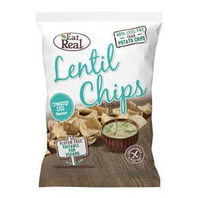 Eat Real Lentil Chips - Creamy Dill (12 x 40g)