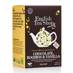 English Tea Shop Organic - Choc Rooibos & Vanilla Tea (20 x 2g)