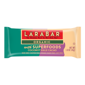 Larabar Gluten Free Superfoods Coconut Kale Cacao (15 x 45g)
