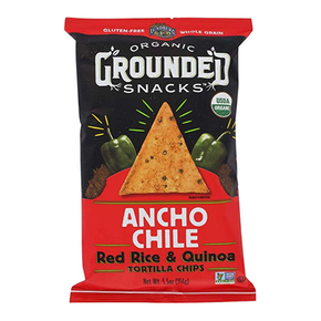 Lunderg Gluten Free Organic Ancho Chile Red Rice & Quinoa Chips  (156g)
