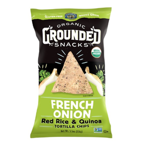 Lunderg Gluten Free Organic Red Rice & Qunioa Chips French Onion (156g)