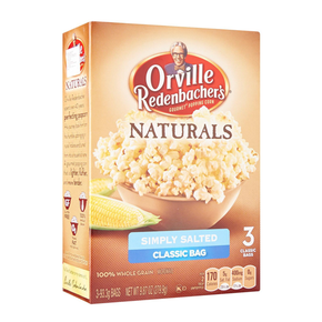 Orville Redenbacher's Naturals Simply Salted Popping Corn (3 x 93.3g)