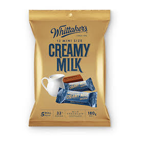 Whittaker's Mini Milk Chocolate Bar - Creamy Milk  (12 x 15g)