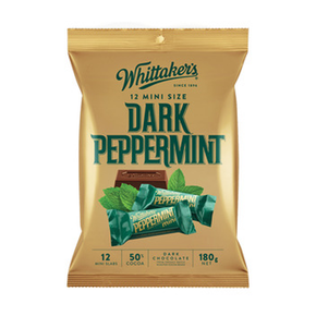 Whittaker's Mini Dark Chocolate Bar - Dark Peppermint (12 x 15g)