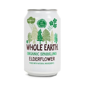 Whole Earth Organic Elderflower Soda (24 x 330ml)