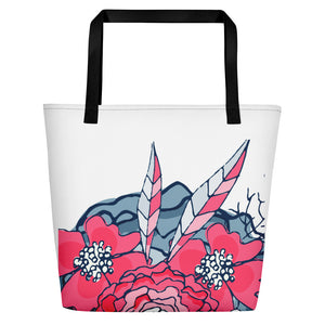 leighton_floral_beach bag