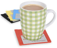 "Splash Brands 3.5"" Floppy Disc Drinks Coasters (Set of 4 colours)"