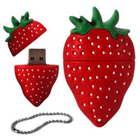 FunnyHouse 4GB Novelty USB Pen Drive - Cute Strawberry