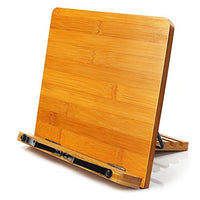 MEETYOO Adjustable Bamboo Reading Stand for Book, Tablet or iPad.