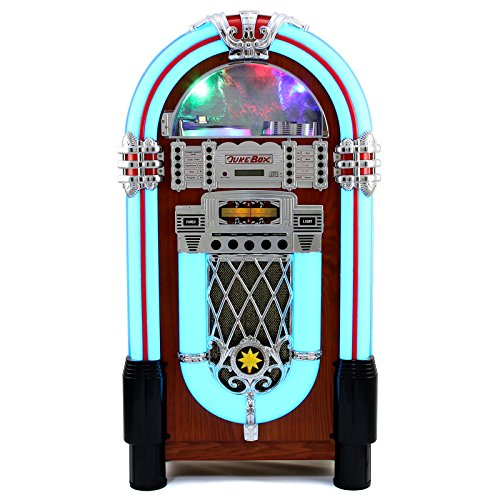MonsterShop Retro Floor Standing Jukebox Music Player.