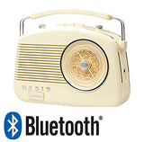 Steepletone Brighton Cream / Beige Retro Style 3 Band Portable Radio.