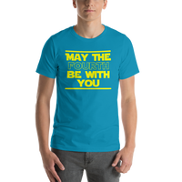 "Classic T-Shirt (Aqua) - Design ""May The Fourth..."""