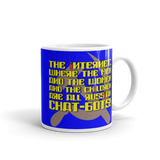 "11oz Mug (Blue) - Design ""Яussiaи Chat-Бots."""