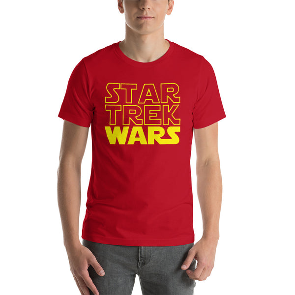 "Classic T-Shirt (Red) - Design ""Star Trek Wars"""