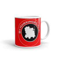 "11oz Mug (Red) - Design ""By Hawkings Chair!"""