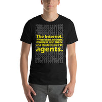 "Classic T-Shirt (Black) - Design ""The Internet."""