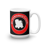 "Mug 15oz (Black) - Design ""By Hawkings Chair!"""