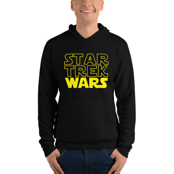 "Classic Hoodie (Black) - Design ""Star Trek Wars"""