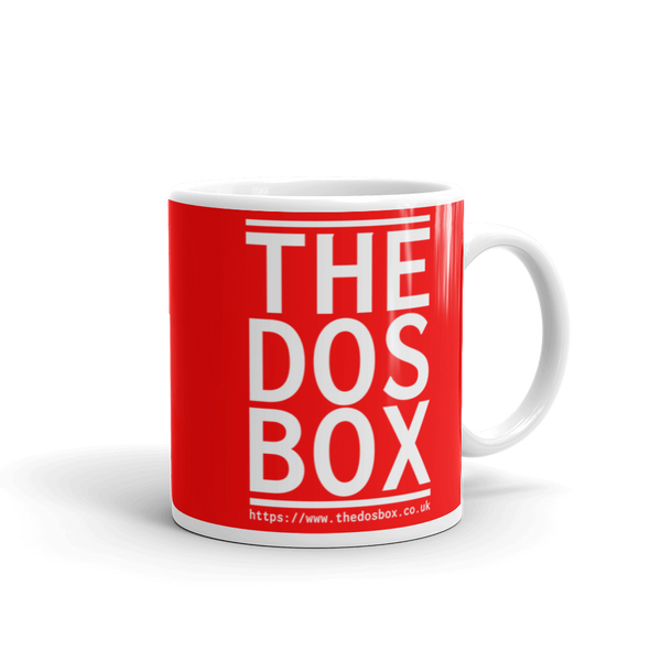 "11oz Mug (Red) - Design ""www.thedosbox.co.uk"""