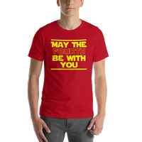 "Classic T-Shirt (Red) - Design ""May The Fourth..."""