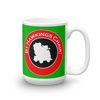 "15oz Mug (Green) - Design ""By Hawkings Chair!"""