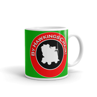 "11oz Mug (Green) - Design ""By Hawkings Chair!"""