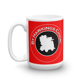 "15oz Mug (Red) - Design ""By Hawkings Chair!"""
