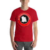 "Classic T-Shirt (Red) - Design ""By Hawkings Chair!"""
