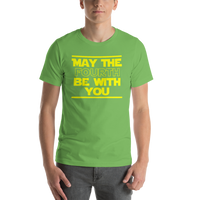 "Classic T-Shirt (Leaf) - Design ""May The Fourth..."""