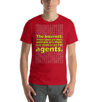 "Classic T-Shirt (Red) - Design ""The Internet."""