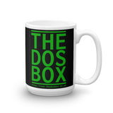"15oz Mug (Black) - Design ""www.thedosbox.co.uk"""