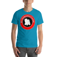 "Classic T-Shirt (Aqua) - Design ""By Hawkings Chair!"""