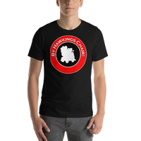 "Classic T-Shirt (Black) - Design ""By Hawkings Chair!"""