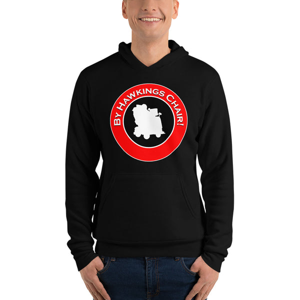 "Classic Hoodie (Black) - Design ""By Hawkings Chair!"""