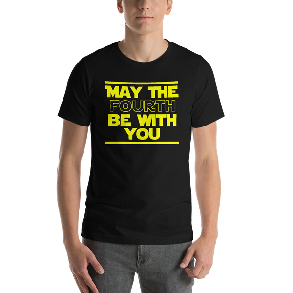 "Classic T-Shirt (Black) - Design ""May The Fourth..."""