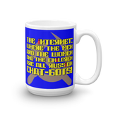 "15oz Mug (Blue) - Design ""Яussiaи Chat-Бots."""