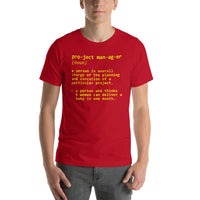 "Classic T-Shirt (Red) - Design ""Project Manager"""