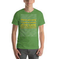 "Classic T-Shirt (Leaf) - Design ""There Are Only 10 Types Of People..."""