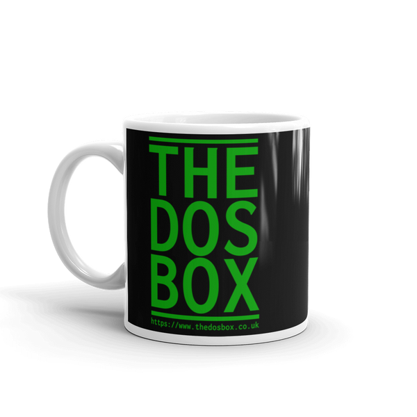 "11oz Mug (Black) - Design ""www.thedosbox.co.uk"""