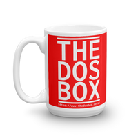 "15oz Mug (Red) - Design ""www.thedosbox.co.uk"""