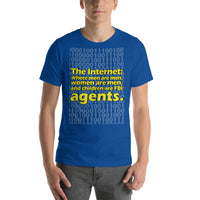 "Classic T-Shirt (True Royal) - Design ""The Internet."""
