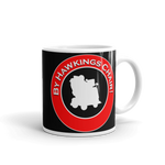 "Mug 11oz (Black) - Design ""By Hawkings Chair!"""