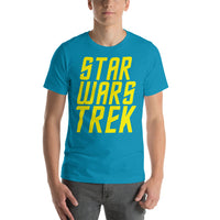 "Classic T-Shirt (Aqua) - Design ""Star Wars Trek"""