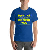 "Classic T-Shirt (True Royal) - Design ""May The Fourth..."""
