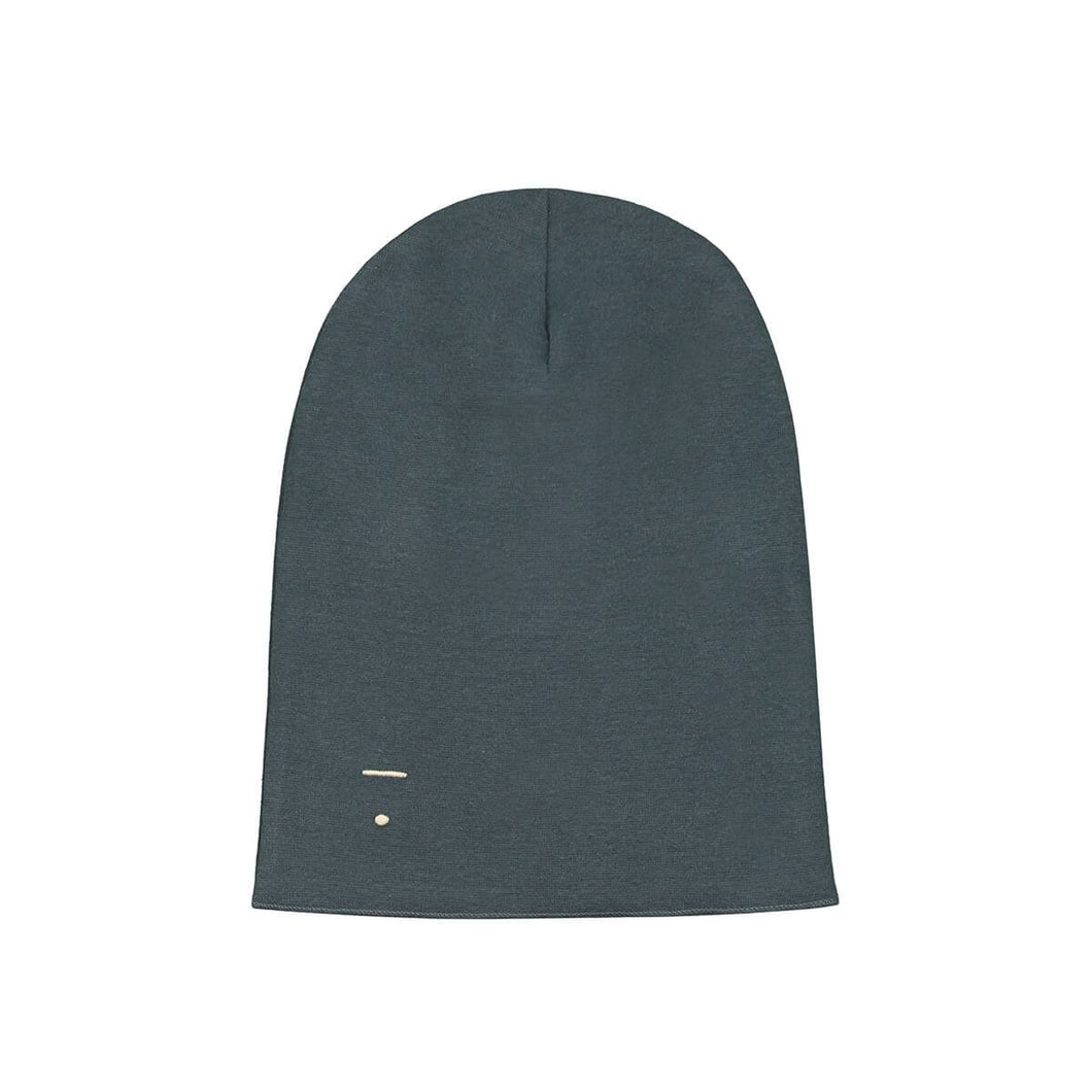 beanie for winter kids gray label kind blue grey melange