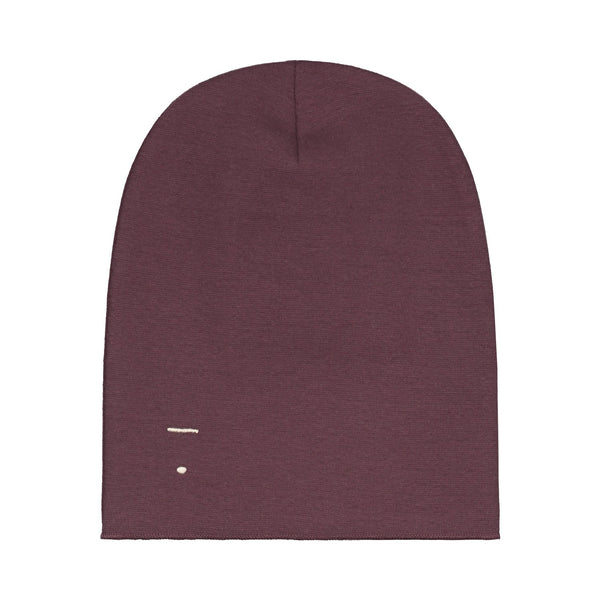 beanie for winter kids gray label kind plum