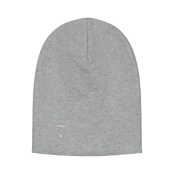 beanie for winter kids gray label kind grey melange