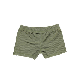 Palm Ribbed Swimshort