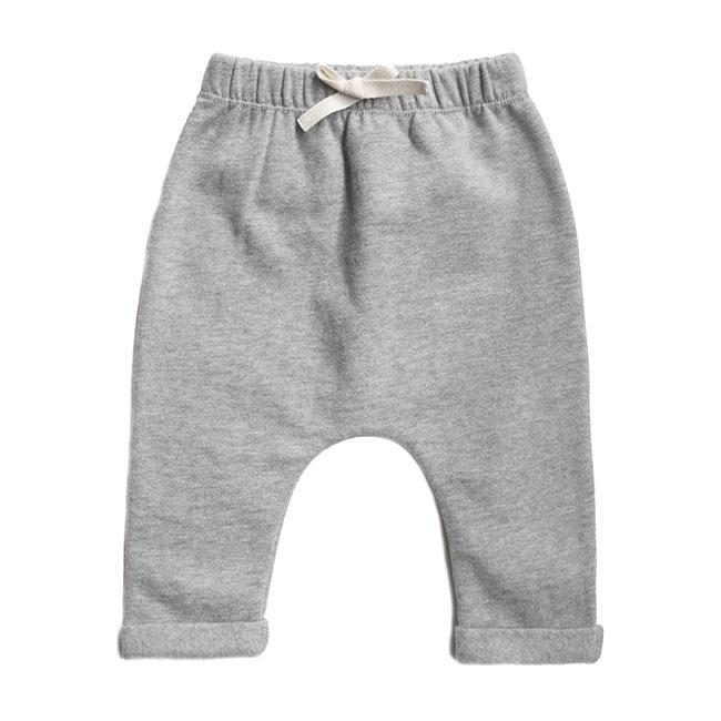 KiND south africa kids fashion baby pant grey melange sustainable cotton by gray label front